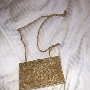 Urban outfitters gold purse